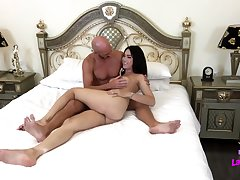 Ladyboy Peach Takes Two Cocks