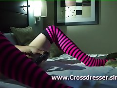 Dildo in Crossdresser pt 4